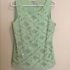 Seafoam polyester sleeveless top